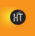 ht h t logo made of small letters with black vector image vector image