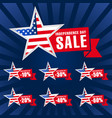 independence day usa sale dark blue vector image