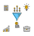 infographic icons for business startup vector image