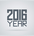 label for the new 2016 vector image vector image