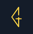 letter gt minimalist creative logo design vector image vector image