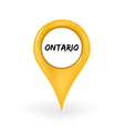 Location Ontario vector image