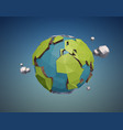 low poly earth vector image vector image