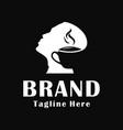 mens coffee logo design vector image
