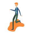 modern boy dancing and having fun at a party vector image vector image