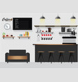 modern flat design coffee shop vector image vector image