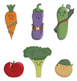 nasty vegetables vector image vector image