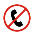 no phone signprohibit sign vector image vector image