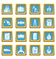 oil industry icons set sapphirine square vector image vector image