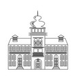 old castle monochrome drawing architectur sketch vector image vector image
