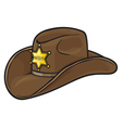 Old western sheriff hat vector | Price: 1 Credit (USD $1)