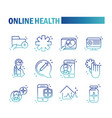online health medical assistance support vector image
