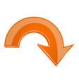 orange 3d arrow down icon vector image vector image