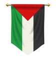 palestine pennant vector image vector image