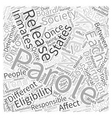 Parole Word Cloud Concept vector image vector image