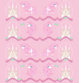 pattern with cute unicorns vector image