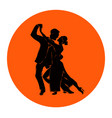 salsa or argentine tango dancing couple man and vector image vector image