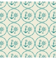 seamless pattern of anchor helm vector image vector image