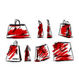 shopping bag fashion style vector image