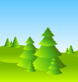 spring or summer landscape scenery with trees vector image