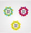 star text template banner colorful vector image