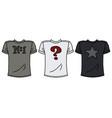 three funny shirts vector image vector image
