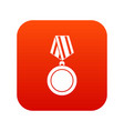 winning medal icon digital red vector image vector image