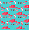 women swimsuit glasses panama - things and vector image vector image
