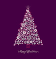 xmas tree purp vector image