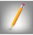 Yellow pencil icon vector image vector image