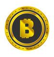 bitcoin golden icon vector image