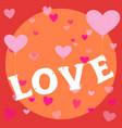 flying love heart balloon happy valentine themed vector image