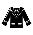 wedding groom suit icon simple style vector image