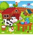 farm animals in barnyard vector image