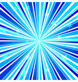 Abstract Star Burst Ray Background Blue vector image vector image