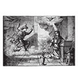 annunciation - the angel gabriel approaches vector image
