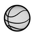 basketball ball equipment vector image vector image