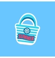 Beach Bag Bright Color Summer Inspired Sticker vector image vector image