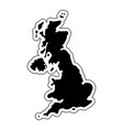 black silhouette of the country united kingdom vector image
