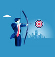 business success target vector image