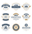 car logos templates design elements set vector image vector image