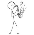 cartoon man or musician playing music on vector image