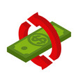 cash back icon symbol is return of money sign of vector image vector image