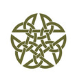 celtic star knot vector image