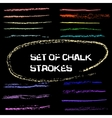 chalk lines Chalk hand drawn strokes vector image vector image