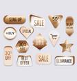 collection golden premium promo sealsstickers vector image vector image