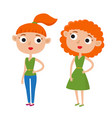 color cute cartoon woman in vector image