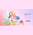 concept bills online payment secure vector image vector image