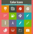creative process icons set vector image