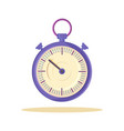 cute template lilac watch vector image vector image